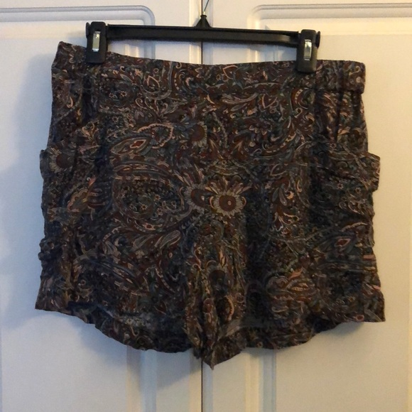 French Connection Pants - Vintage Paisley Shorts